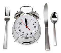 clock and plate